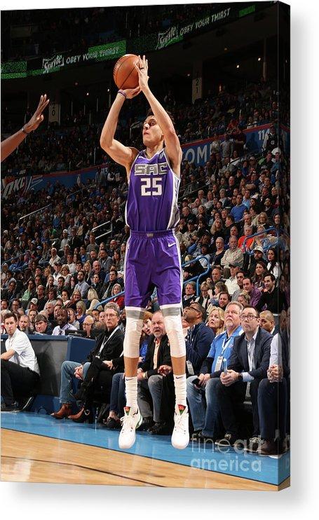 Nba Pro Basketball Acrylic Print featuring the photograph Sacramento Kings V Oklahoma City Thunder by Layne Murdoch