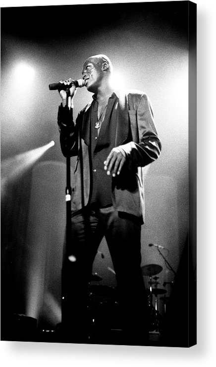 Music Acrylic Print featuring the photograph Seal Hollywood Bowl 1995 by Martyn Goodacre