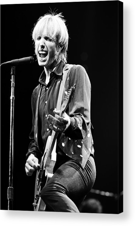 Tom Petty Acrylic Print featuring the photograph Singer Tom Petty Performs In Concert by George Rose