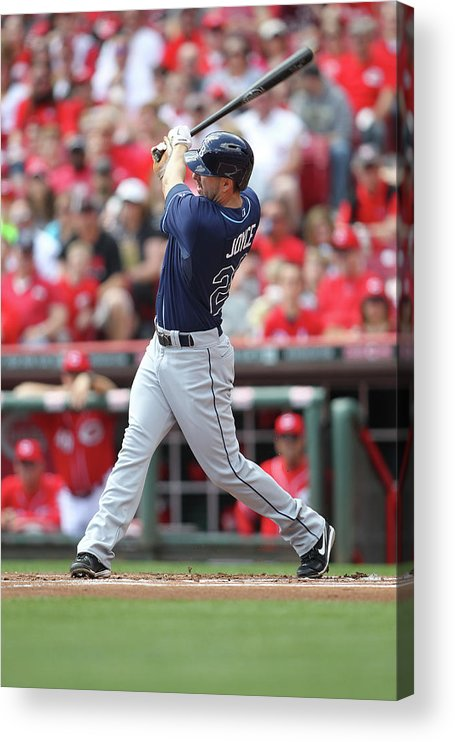 Great American Ball Park Acrylic Print featuring the photograph Tampa Bay Ray V. Cincinnati Reds by John Grieshop