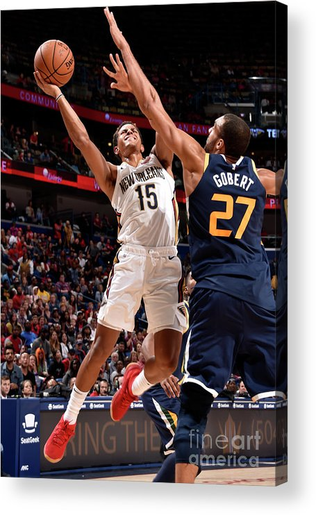 Smoothie King Center Acrylic Print featuring the photograph Utah Jazz V New Orleans Pelicans by Bill Baptist