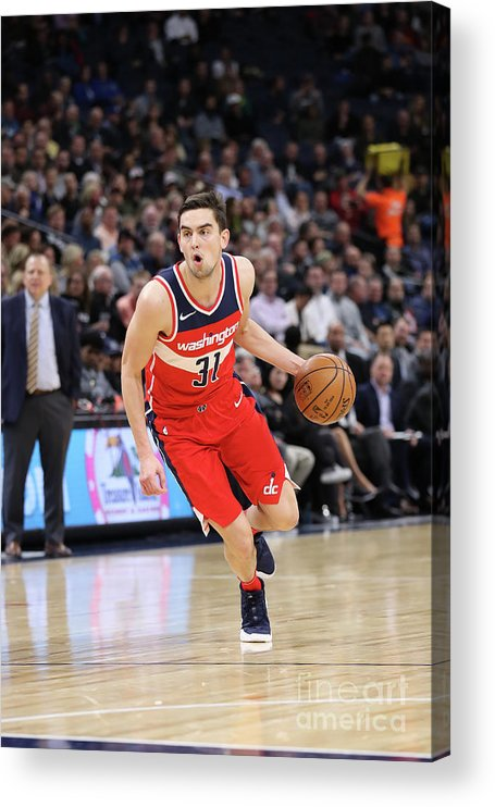 Nba Pro Basketball Acrylic Print featuring the photograph Washington Wizards V Minnesota by Jordan Johnson