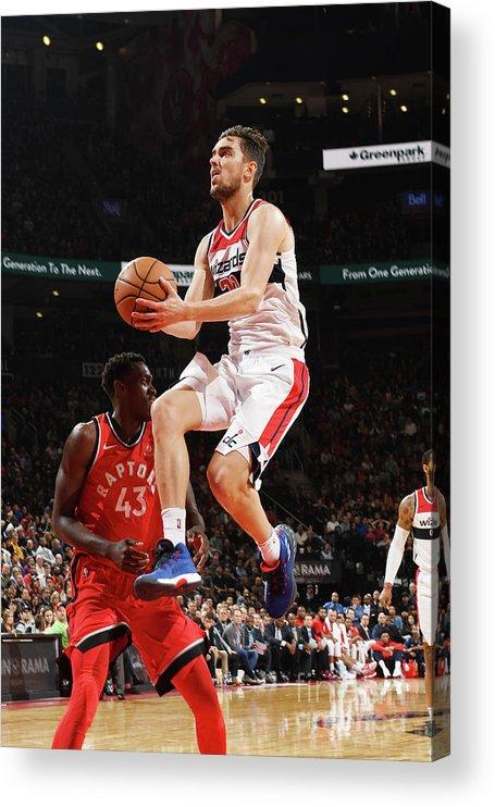 Nba Pro Basketball Acrylic Print featuring the photograph Washington Wizards V Toronto Raptors by Ron Turenne