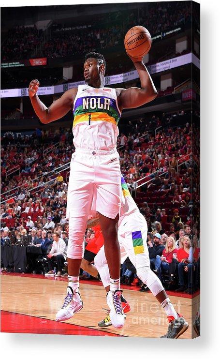 Nba Pro Basketball Acrylic Print featuring the photograph Zion Williamson by Bill Baptist
