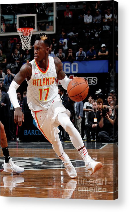 Nba Pro Basketball Acrylic Print featuring the photograph Atlanta Hawks V Brooklyn Nets by Nathaniel S. Butler
