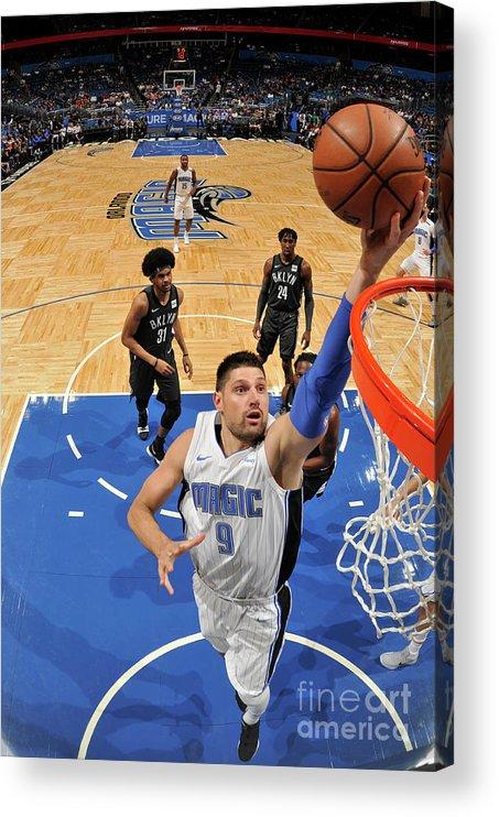 Nba Pro Basketball Acrylic Print featuring the photograph Brooklyn Nets V Orlando Magic by Fernando Medina