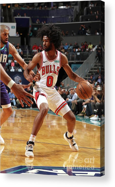 Coby White Acrylic Print featuring the photograph Chicago Bulls V Charlotte Hornets by Kent Smith