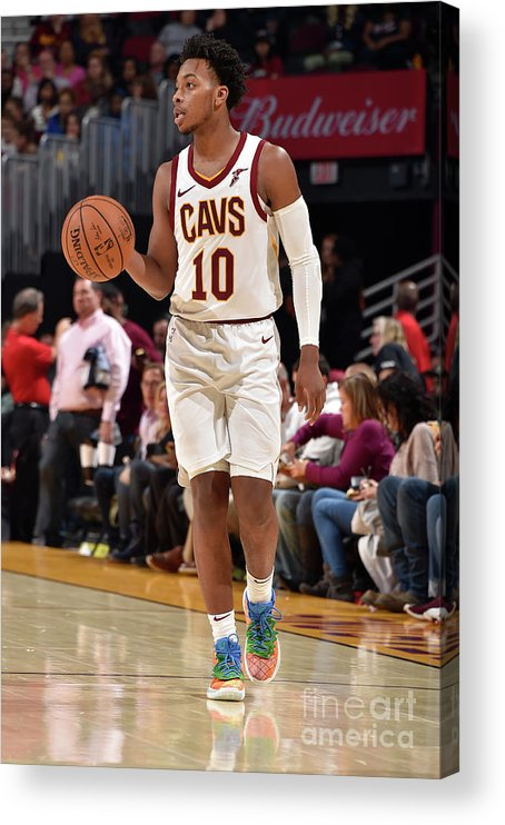 Nba Pro Basketball Acrylic Print featuring the photograph Chicago Bulls V Cleveland Cavaliers by David Liam Kyle