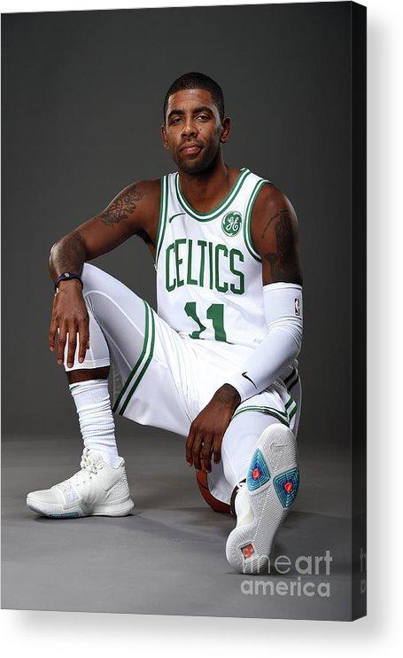 Nba Pro Basketball Acrylic Print featuring the photograph Kyrie Irving Boston Celtics Portraits by Brian Babineau