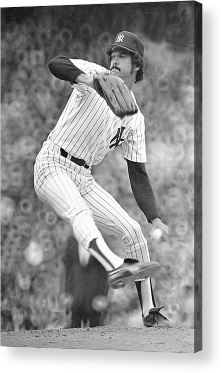 American League Baseball Acrylic Print featuring the photograph New York Yankees by Ronald C. Modra/sports Imagery