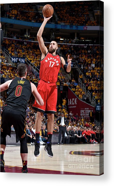 Playoffs Acrylic Print featuring the photograph Toronto Raptors V Cleveland Cavaliers - by David Liam Kyle