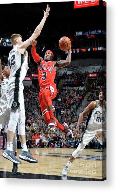 Nba Pro Basketball Acrylic Print featuring the photograph Chicago Bulls V San Antonio Spurs by Mark Sobhani