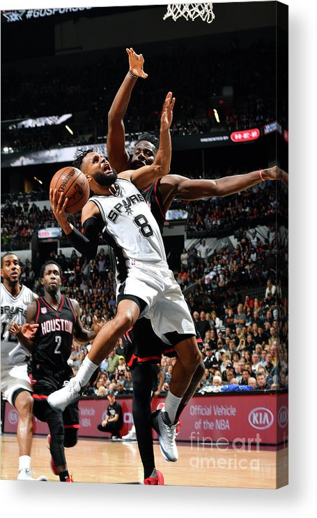 Playoffs Acrylic Print featuring the photograph Houston Rockets V San Antonio Spurs - by Jesse D. Garrabrant