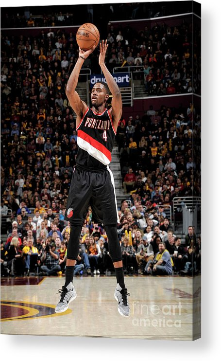 Moe Harkless Acrylic Print featuring the photograph Portland Trail Blazers V Cleveland by David Liam Kyle