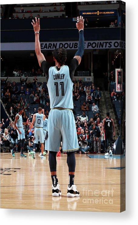 Nba Pro Basketball Acrylic Print featuring the photograph Portland Trail Blazers V Memphis by Joe Murphy