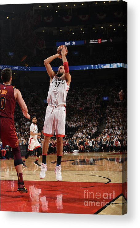 Playoffs Acrylic Print featuring the photograph Cleveland Cavaliers V Toronto Raptors - by Ron Turenne