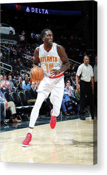 Atlanta Acrylic Print featuring the photograph Milwaukee Bucks V Atlanta Hawks by Scott Cunningham