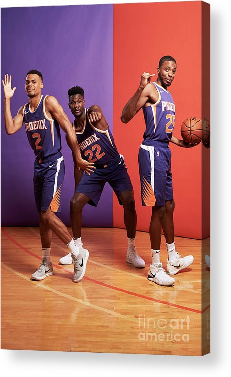 Nba Pro Basketball Acrylic Print featuring the photograph 2018 Nba Rookie Photo Shoot by Jennifer Pottheiser