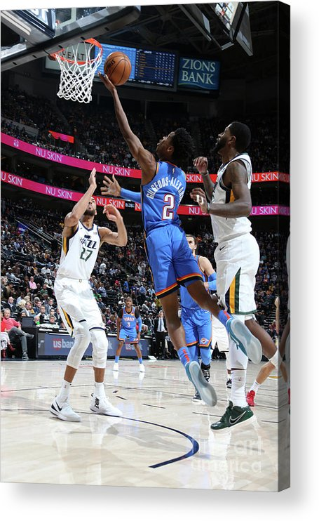Nba Pro Basketball Acrylic Print featuring the photograph Oklahoma City Thunder V Utah Jazz by Melissa Majchrzak