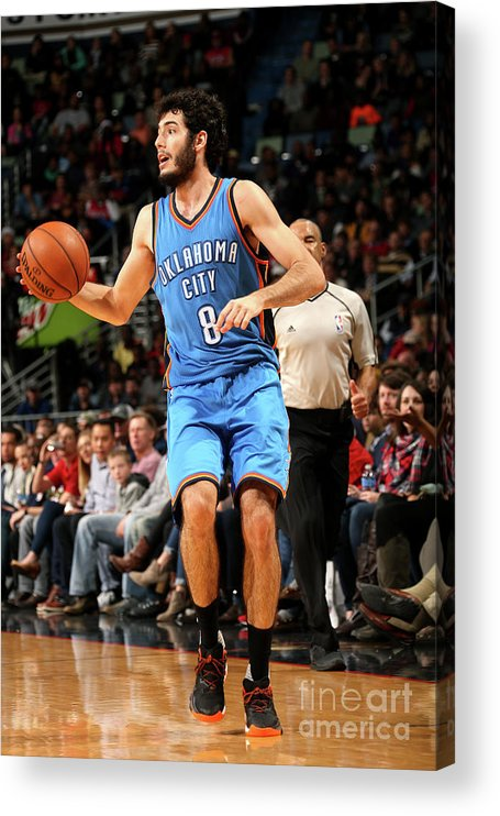 Smoothie King Center Acrylic Print featuring the photograph Oklahoma City Thunder V New Orleans by Layne Murdoch