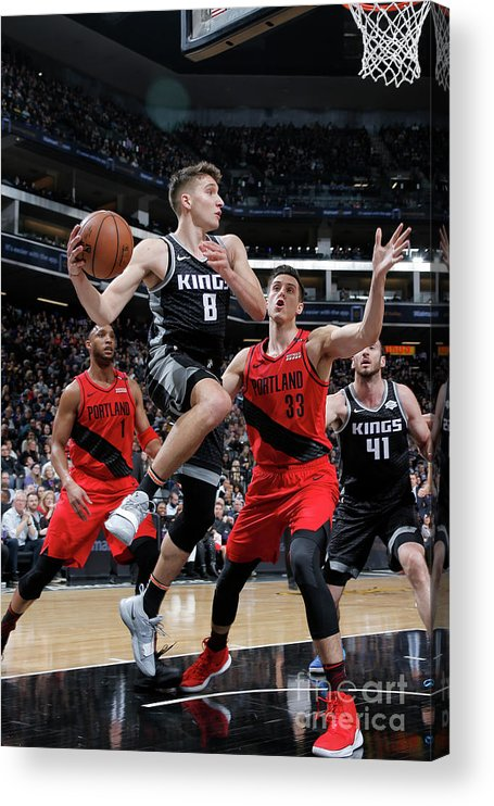 Nba Pro Basketball Acrylic Print featuring the photograph Portland Trail Blazers V Sacramento by Rocky Widner