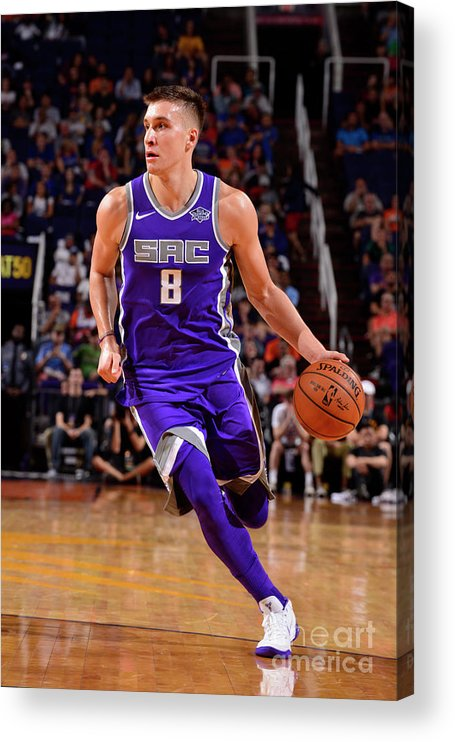 Nba Pro Basketball Acrylic Print featuring the photograph Sacramento Kings V Phoenix Suns by Barry Gossage