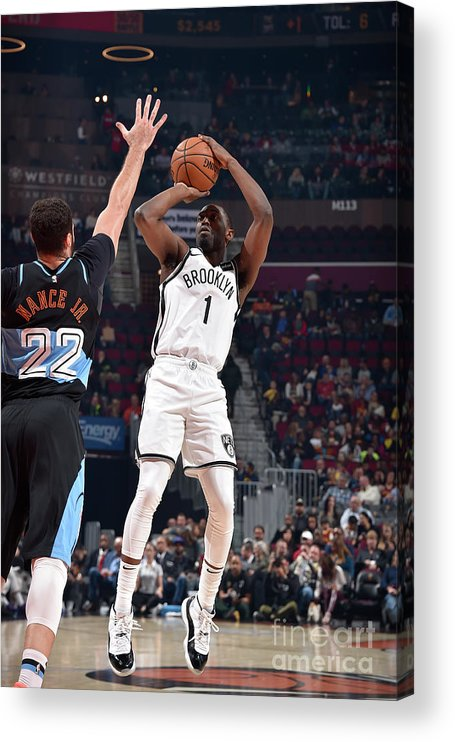 Nba Pro Basketball Acrylic Print featuring the photograph Brooklyn Nets V Cleveland Cavaliers by David Liam Kyle