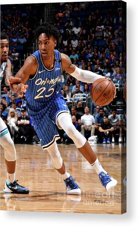 Nba Pro Basketball Acrylic Print featuring the photograph Charlotte Hornets V Orlando Magic by Fernando Medina