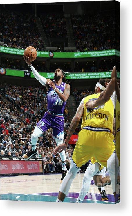 Nba Pro Basketball Acrylic Print featuring the photograph Golden State Warriors V Utah Jazz by Melissa Majchrzak