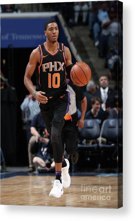 Nba Pro Basketball Acrylic Print featuring the photograph Phoenix Suns V Memphis Grizzlies by Joe Murphy