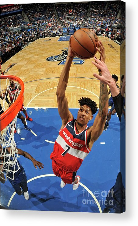 Nba Pro Basketball Acrylic Print featuring the photograph Washington Wizards V Orlando Magic by Fernando Medina