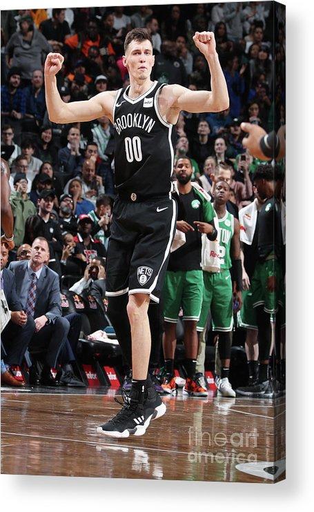 Nba Pro Basketball Acrylic Print featuring the photograph Boston Celtics V Brooklyn Nets by Nathaniel S. Butler