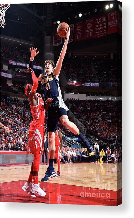 Nba Pro Basketball Acrylic Print featuring the photograph Denver Nuggets V Houston Rockets by Bill Baptist