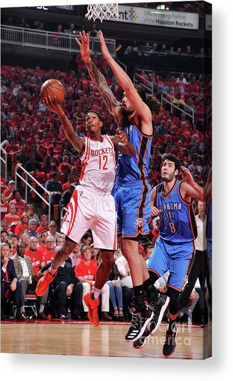 Playoffs Acrylic Print featuring the photograph Oklahoma City Thunder V Houston Rockets by Bill Baptist