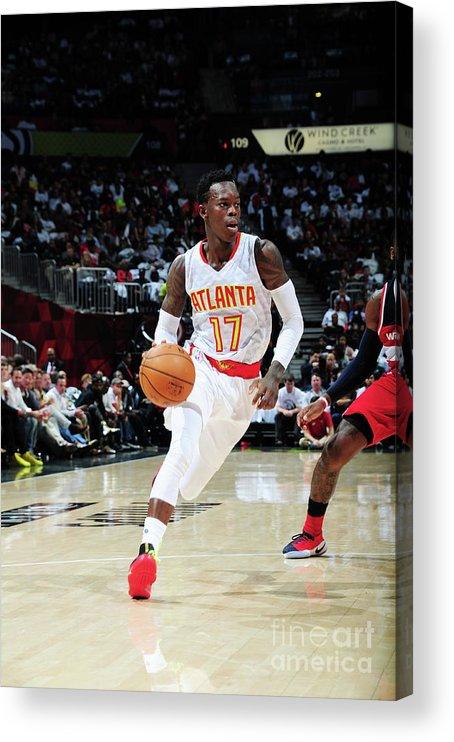 Atlanta Acrylic Print featuring the photograph Washington Wizards V Atlanta Hawks by Scott Cunningham