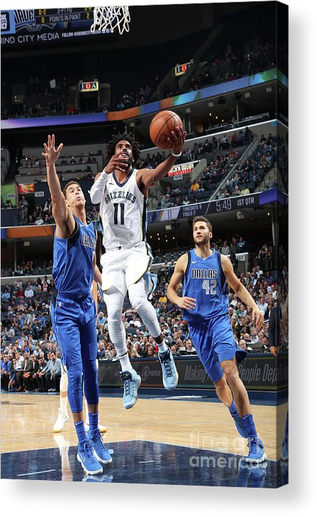 Nba Pro Basketball Acrylic Print featuring the photograph Dallas Mavericks V Memphis Grizzlies by Joe Murphy