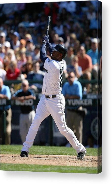People Acrylic Print featuring the photograph New York Yankees V Seattle Mariners by Otto Greule Jr