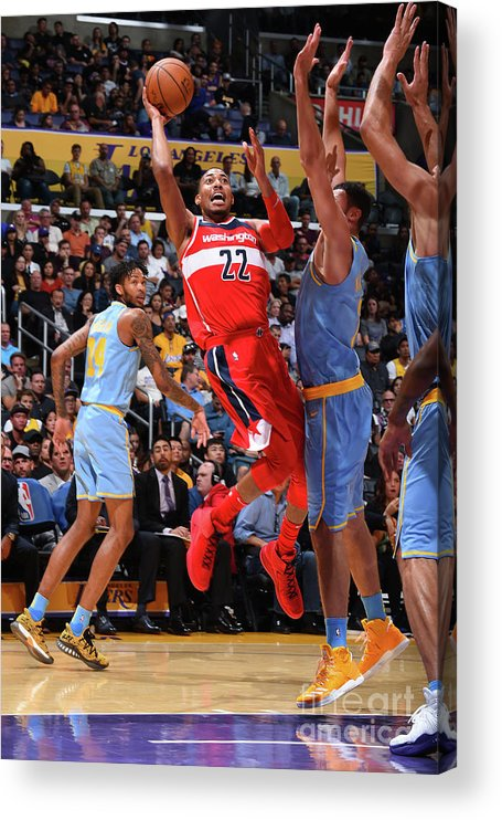 Nba Pro Basketball Acrylic Print featuring the photograph Washington Wizards V Los Angeles Lakers by Andrew D. Bernstein