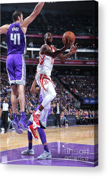 Nba Pro Basketball Acrylic Print featuring the photograph Houston Rockets V Sacramento Kings by Rocky Widner