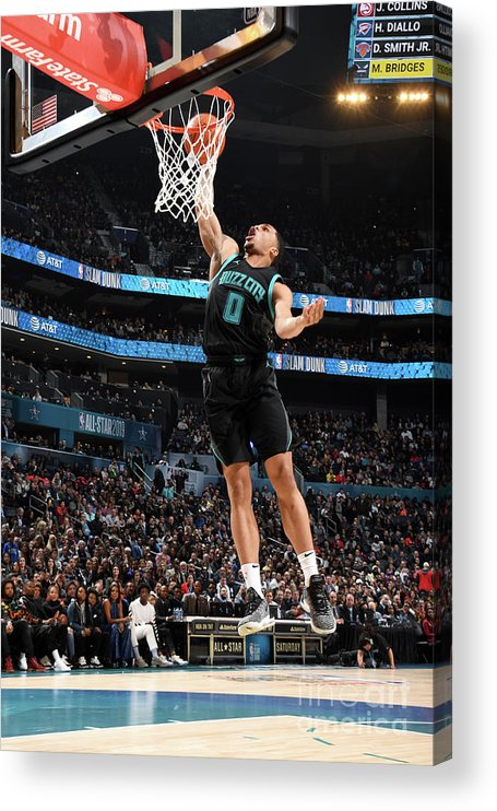 Nba Pro Basketball Acrylic Print featuring the photograph 2019 At&t Slam Dunk Contest by Andrew D. Bernstein