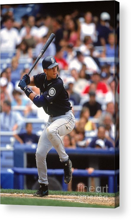 People Acrylic Print featuring the photograph Alex Rodriguez 3 by Jamie Squire