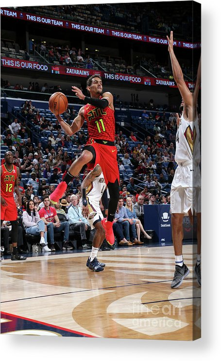 Smoothie King Center Acrylic Print featuring the photograph Atlanta Hawks V New Orleans Pelicans by Layne Murdoch Jr.