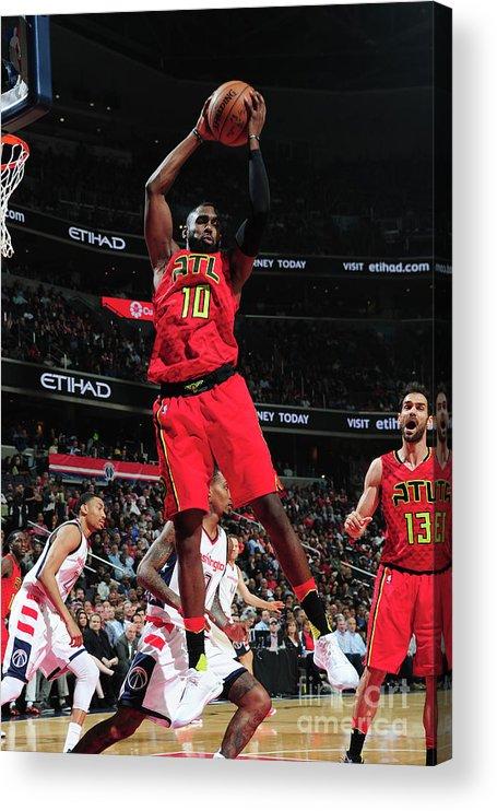 Tim Hardaway Jr. Acrylic Print featuring the photograph Atlanta Hawks V Washington Wizards - by Scott Cunningham