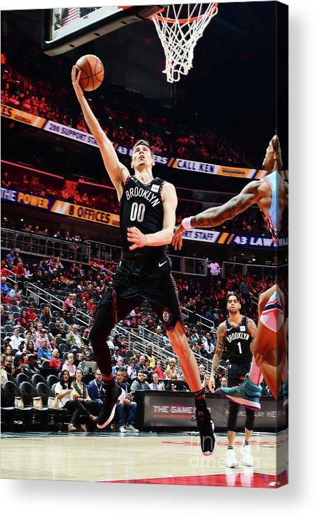 Atlanta Acrylic Print featuring the photograph Brooklyn Nets V Atlanta Hawks by Scott Cunningham