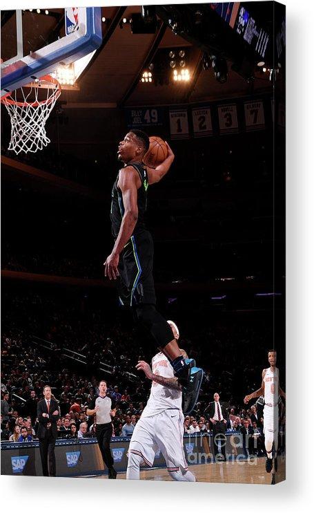 Sports Ball Acrylic Print featuring the photograph Dallas Mavericks V New York Knicks by Nba Photos