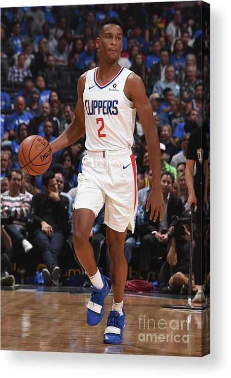 Nba Pro Basketball Acrylic Print featuring the photograph Denver Nuggets V La Clippers by Adam Pantozzi