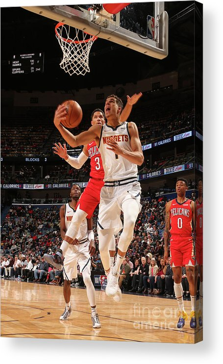 Smoothie King Center Acrylic Print featuring the photograph Denver Nuggets V New Orleans Pelicans by Layne Murdoch Jr.