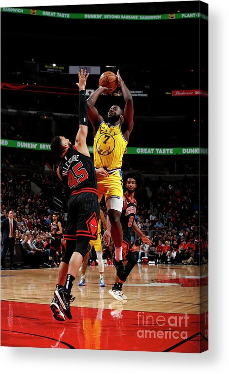Chicago Bulls Acrylic Print featuring the photograph Golden State Warriors V Chicago Bulls by Jeff Haynes