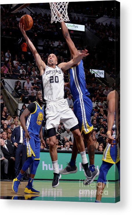 Playoffs Acrylic Print featuring the photograph Golden State Warriors V San Antonio by Mark Sobhani