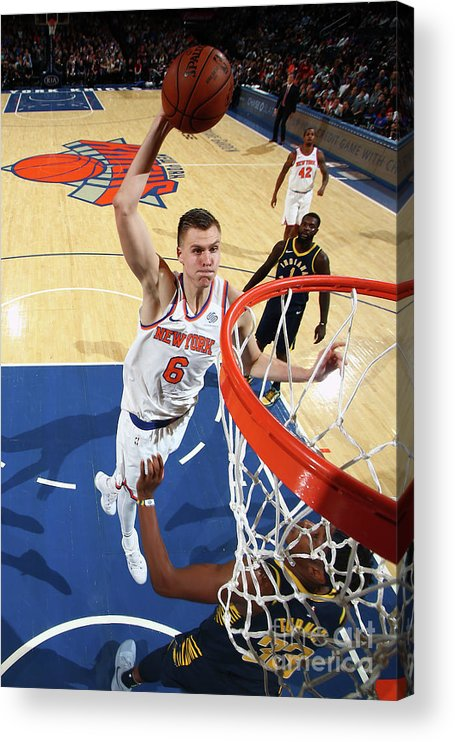 Nba Pro Basketball Acrylic Print featuring the photograph Indiana Pacers V New York Knicks by Nathaniel S. Butler